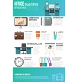 Office Infographics Set vector image vector image