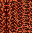 orange black warped damask pattern vector image vector image