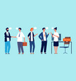 people waiting for interview vacant position vector image vector image