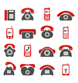 phone telecommunications icon vector image vector image