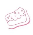 piece of cake dessert vector image vector image