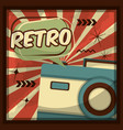 retro vintage devices vector image vector image