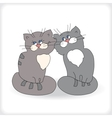 Romantic couple of cats vector image