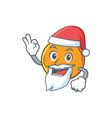 santa orange fruit cartoon character vector image vector image