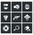 set military rehabilitation icons vector image