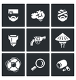 Set of Military Rehabilitation Icons vector image