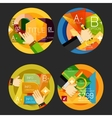 Set of option presentation labels flat design web vector image vector image