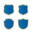 shield gold blue icons set shape emblem vector image vector image