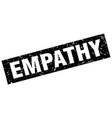 square grunge black empathy stamp vector image vector image