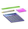 Stationary for school or work vector image