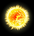 sun with rays in space design element for your vector image