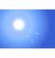 sunburst on blue sky background vector image vector image