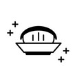 sushi oriental menu in bowl food line style icon vector image