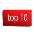 top 10 red paper sign on white background vector image vector image