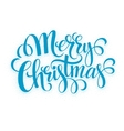Verry Christmas greeting lettering vector image