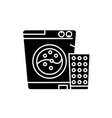 washer black icon sign on isolated vector image vector image