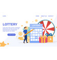 web page template for lottery vector image