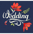 Wedding calligraphic inscription 2 vector image vector image