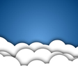 White Clouds Background vector image vector image