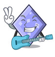with guitar rhombus mascot cartoon style vector image