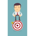 man stands on top of the target vector image