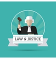 Law and Justice icon design vector image