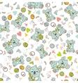 seamless animal pattern vector image