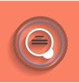 zoom icon modern flat design vector image