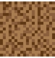 Abstract block texture brown Pixel vector image vector image