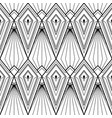 abstract geometric seamless monochrome vector image vector image