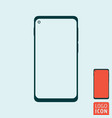 abstract modern smartphone icon mobile phone vector image