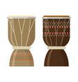 african djembe drum vector image vector image