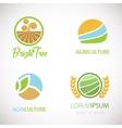 Agro company logo set vector image vector image