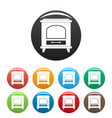 ancient oven icons set color vector image vector image