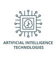 artificial intelligence technologies line icon vector image vector image