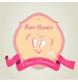 bashower invitation with bafeet vector image vector image