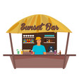 beach bar travell palm drink summer lounge vector image vector image