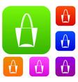 big bag set color collection vector image vector image