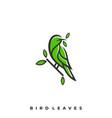 bird leaf template vector image vector image