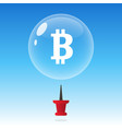 bitcoin bubble burst or crash cryptocurrency vector image