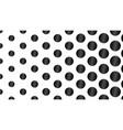 black and white polka dot pop art creative design vector image