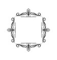 black border monogram decorative element vector image vector image