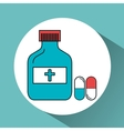 bottle medicine isolated icon vector image vector image