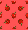 bright strawberry seamless pattern vector image
