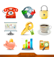Business icons set 3 vector image