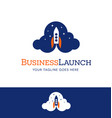 business startup logo icon with rocket launching vector image vector image