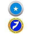 button as a symbol SOMALIA ISLANDS vector image
