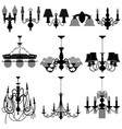 chandelier light lamp a set of chandelier and vector image vector image