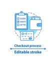 checkout process concept icon vector image vector image