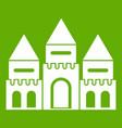 children house castle icon green vector image vector image